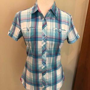 Kuhl Plaid Button down Shirt Women's XS